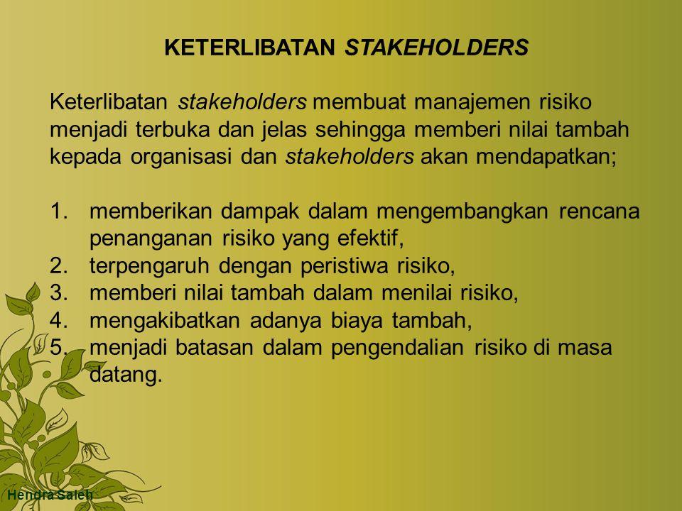 KETERLIBATAN STAKEHOLDERS