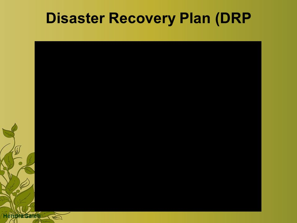 Disaster Recovery Plan (DRP