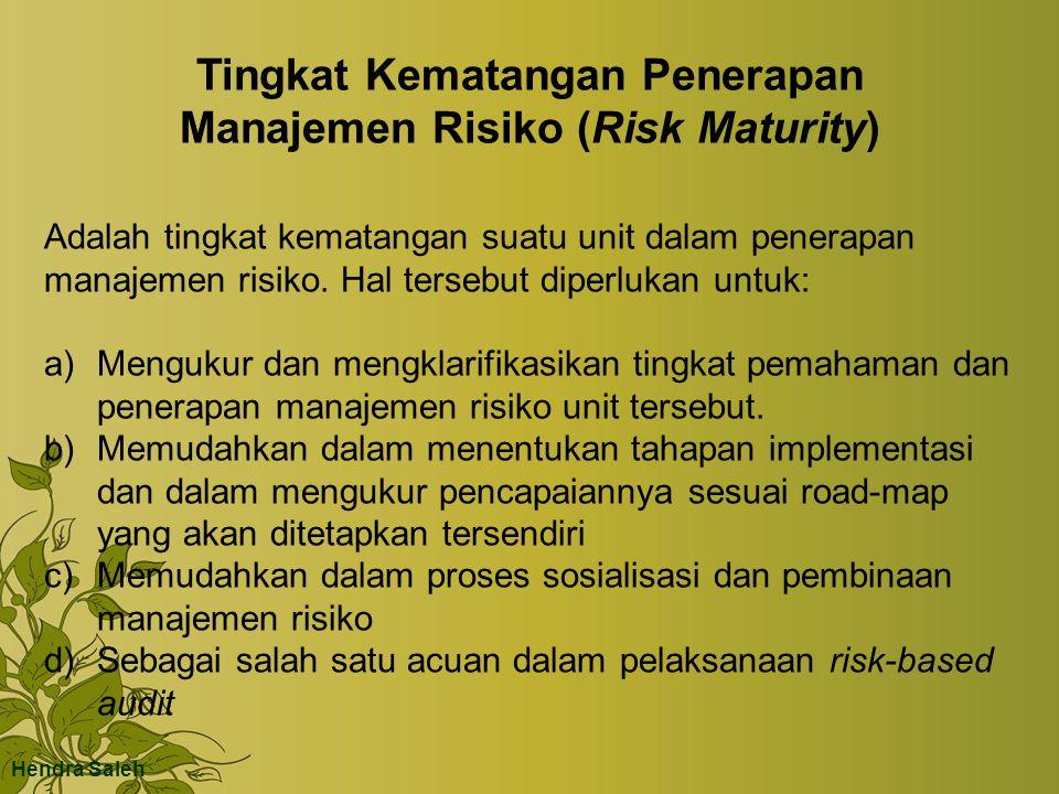 Tingkat Kematangan Penerapan Manajemen Risiko (Risk Maturity)