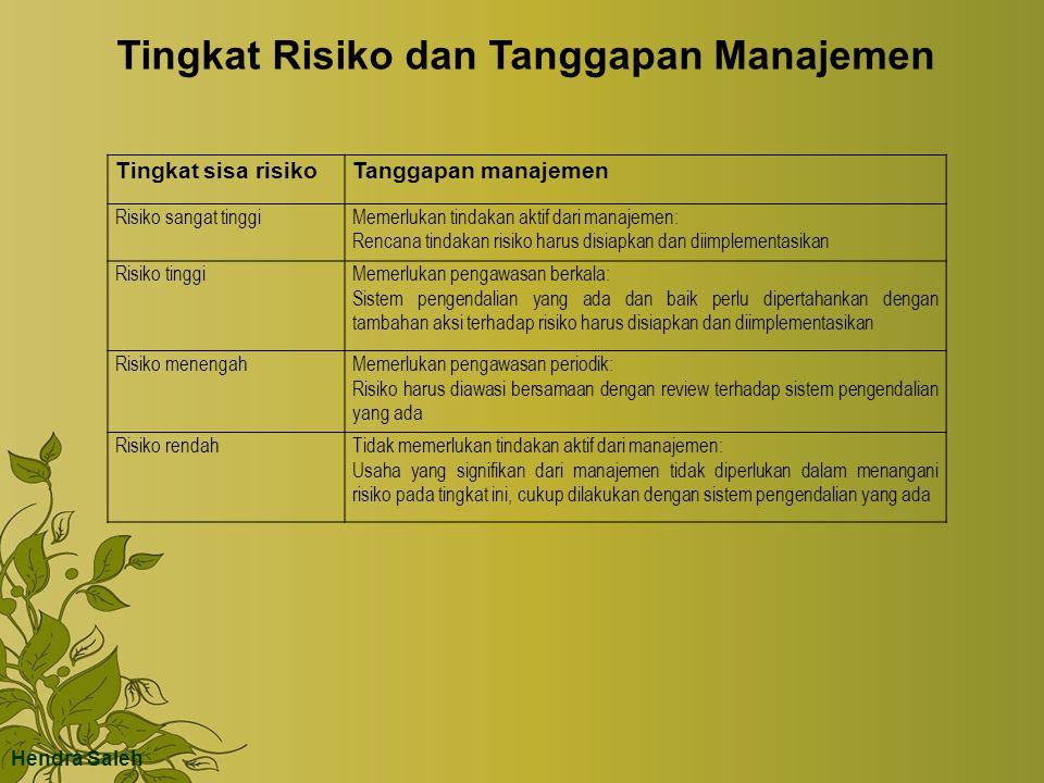 Tingkat Risiko dan Tanggapan Manajemen