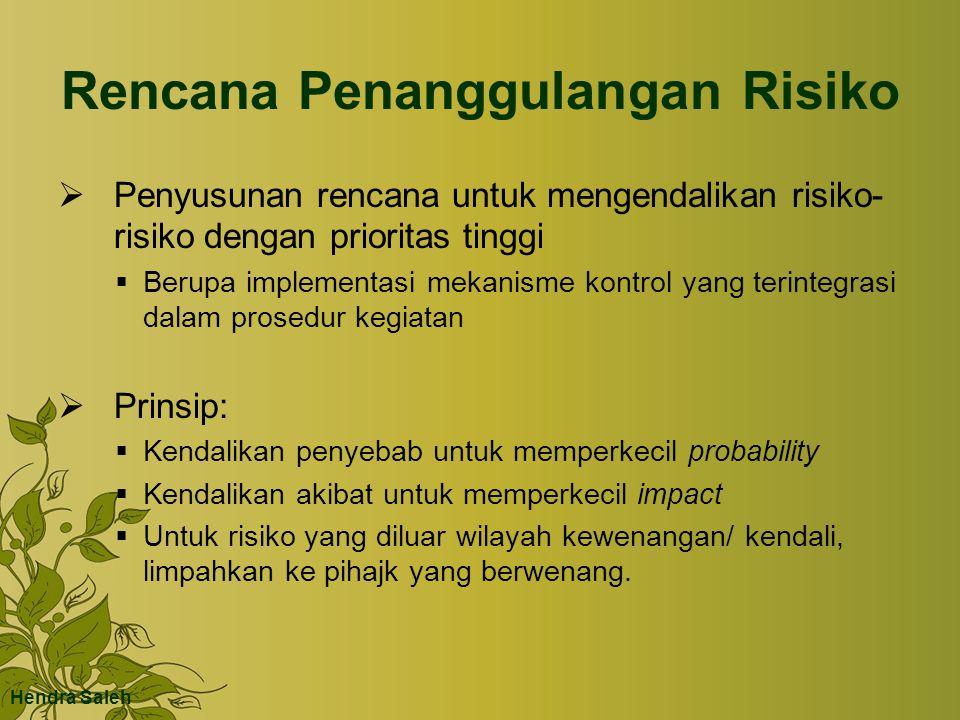 Rencana Penanggulangan Risiko