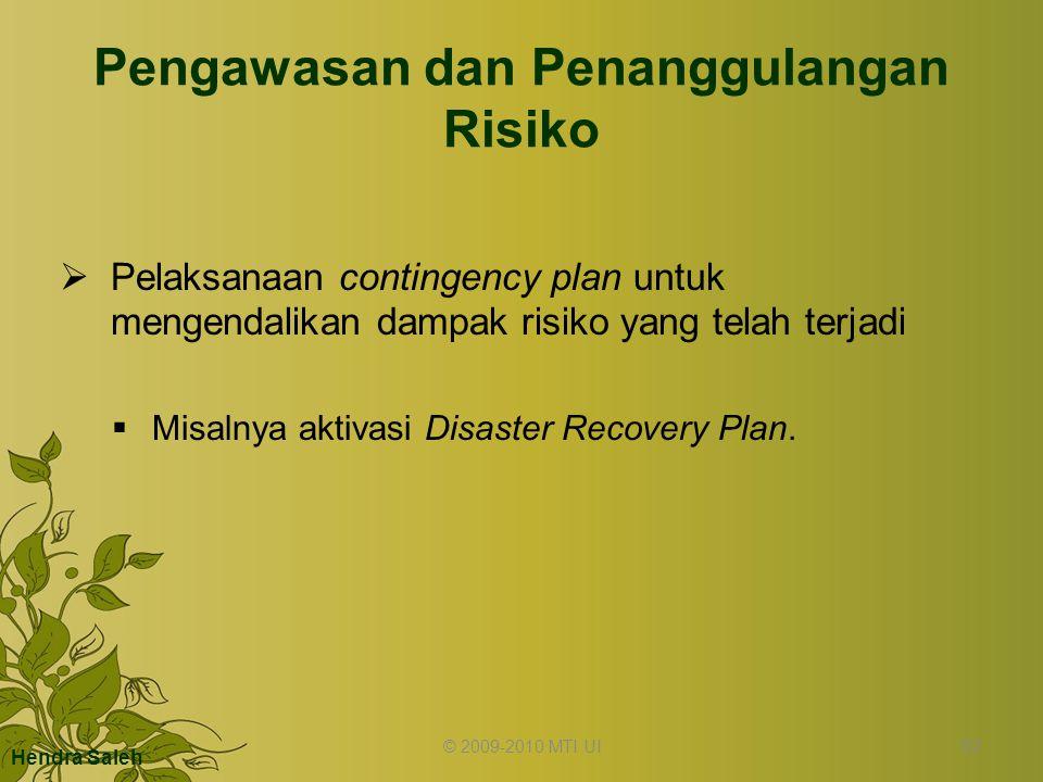 Pengawasan dan Penanggulangan Risiko