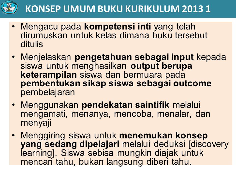 KONSEP UMUM BUKU KURIKULUM 2013 1