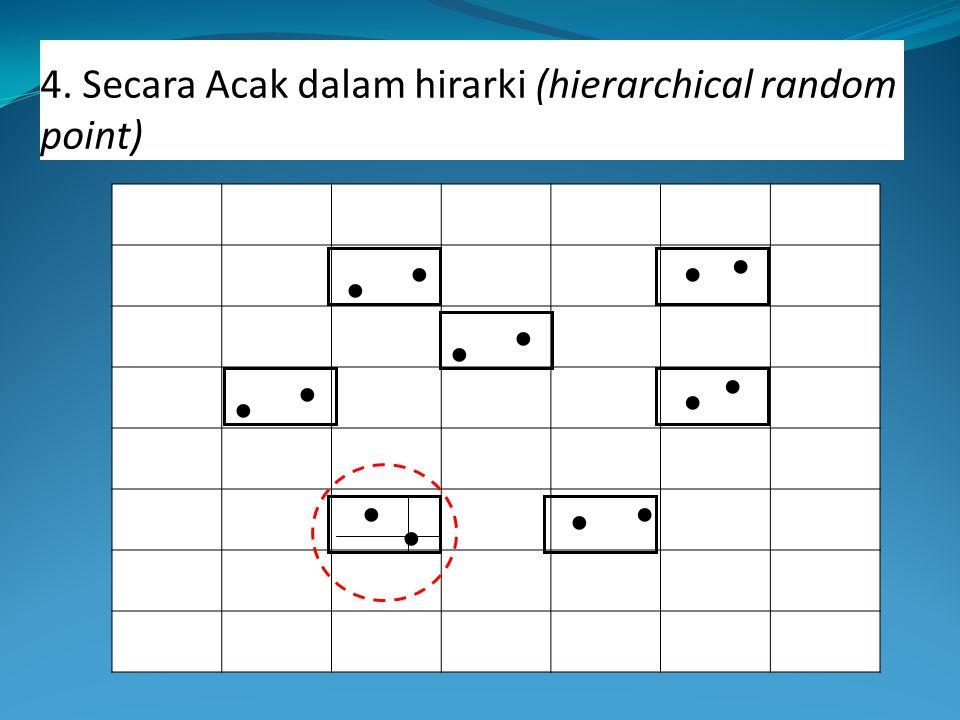 4. Secara Acak dalam hirarki (hierarchical random point)