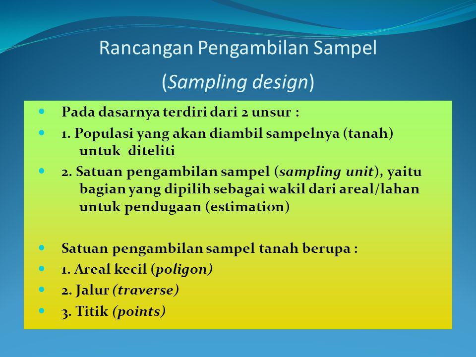 Rancangan Pengambilan Sampel (Sampling design)