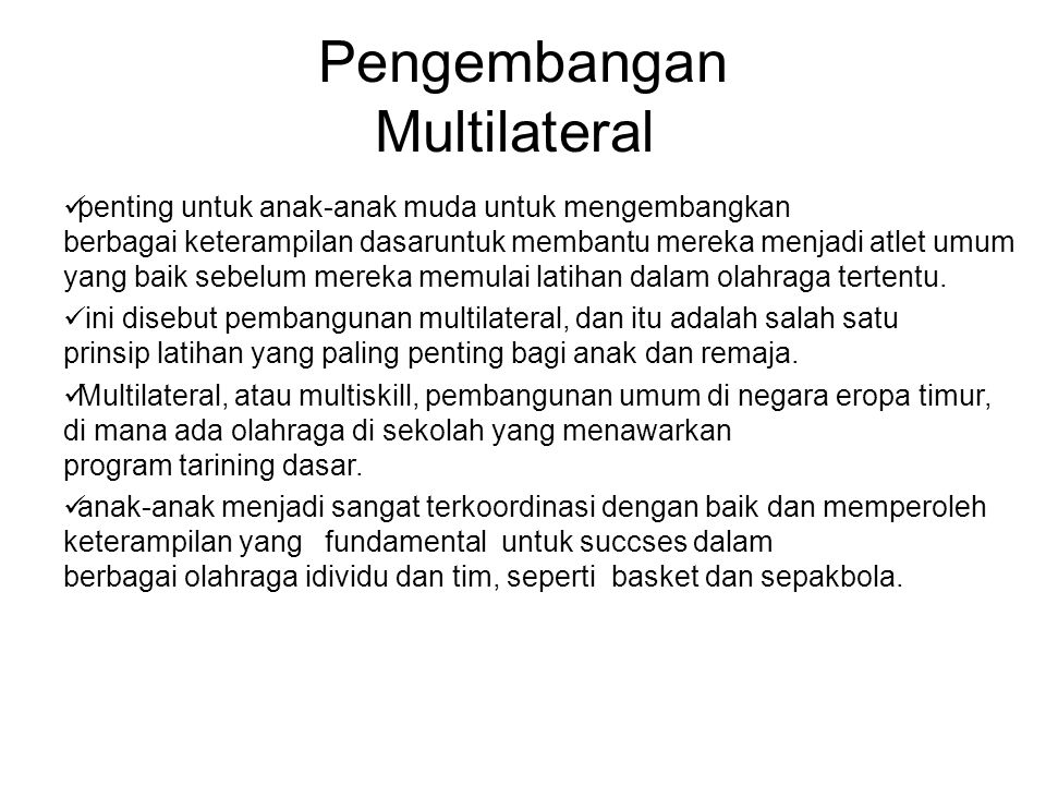 Pengembangan Multilateral