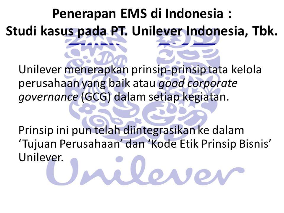 Penerapan EMS di Indonesia : Studi kasus pada PT