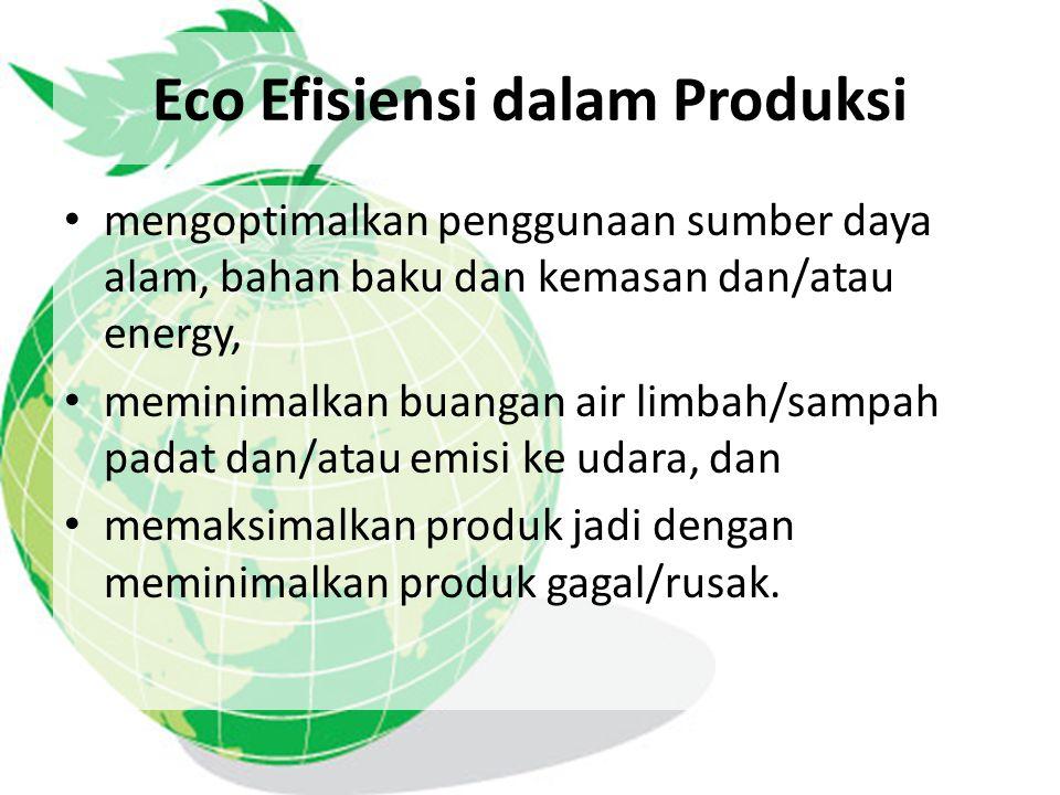 Eco Efisiensi dalam Produksi