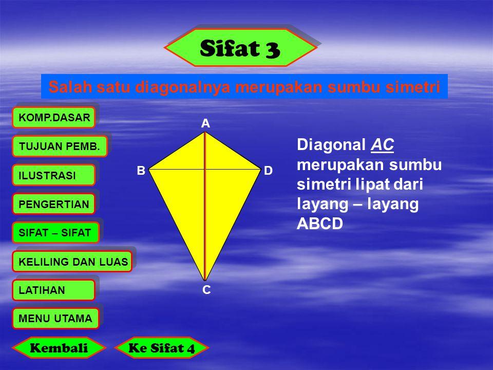 Salah satu diagonalnya merupakan sumbu simetri