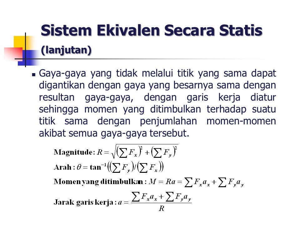 Sistem Ekivalen Secara Statis (lanjutan)