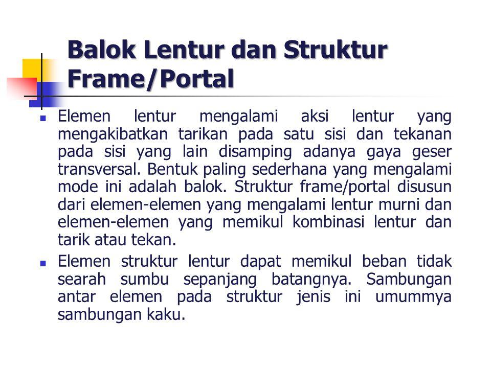 Balok Lentur dan Struktur Frame/Portal