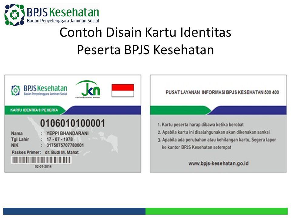 Contoh Disain Kartu Identitas Peserta BPJS Kesehatan