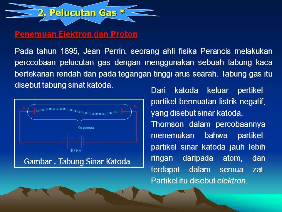2. Pelucutan Gas * Penemuan Elektron dan Proton