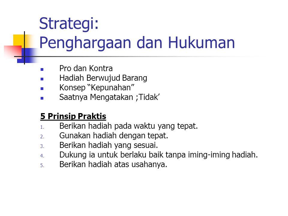 Strategi: Penghargaan dan Hukuman