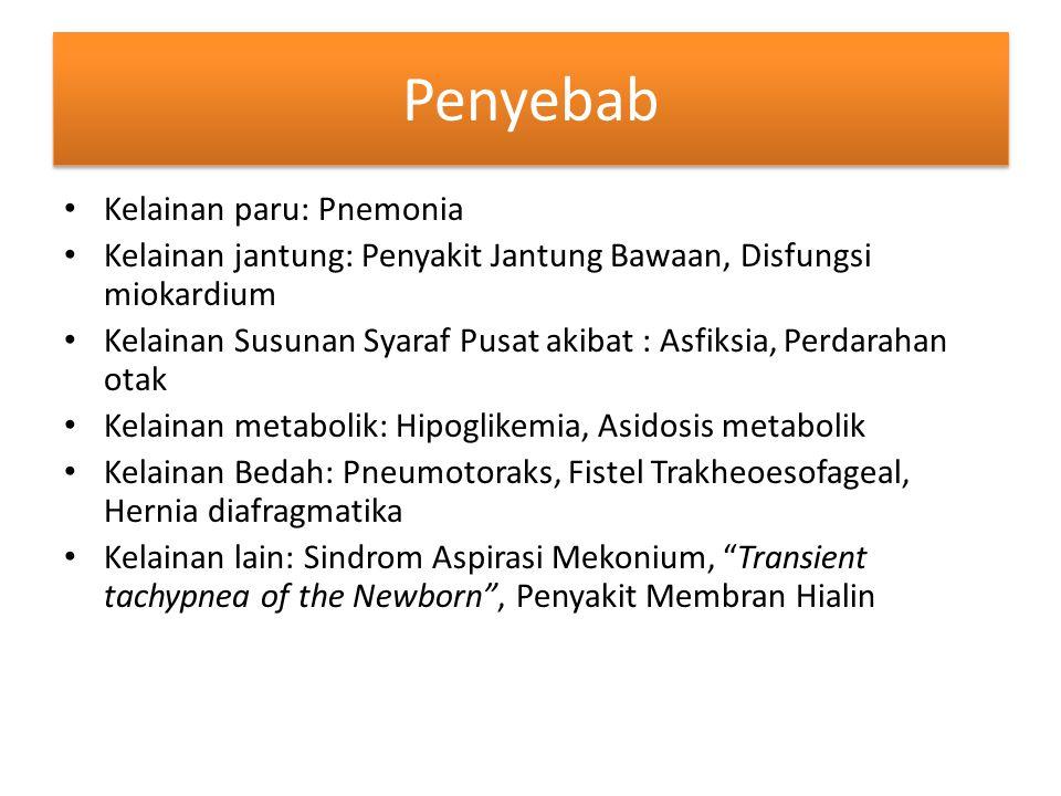 Penyebab Kelainan paru: Pnemonia