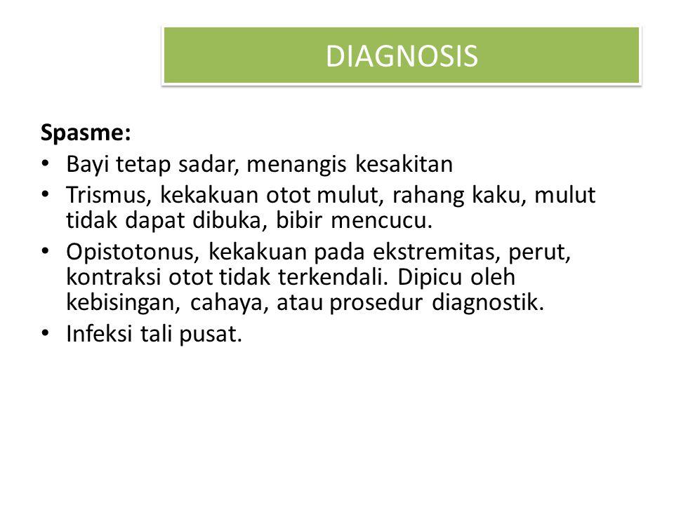 DIAGNOSIS Spasme: Bayi tetap sadar, menangis kesakitan