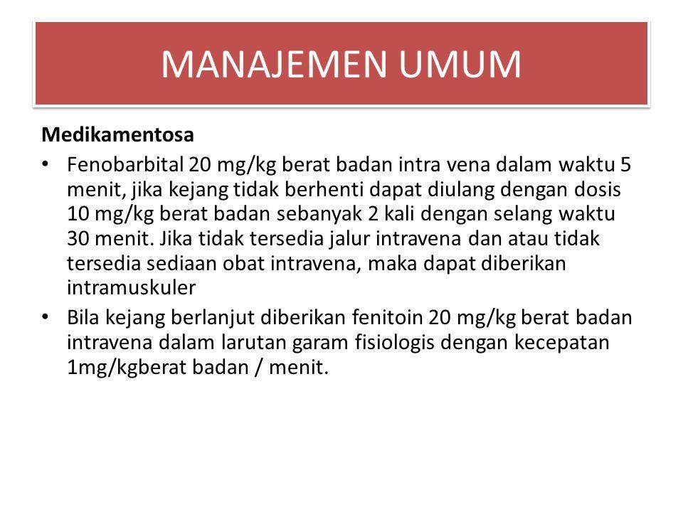 MANAJEMEN UMUM Medikamentosa