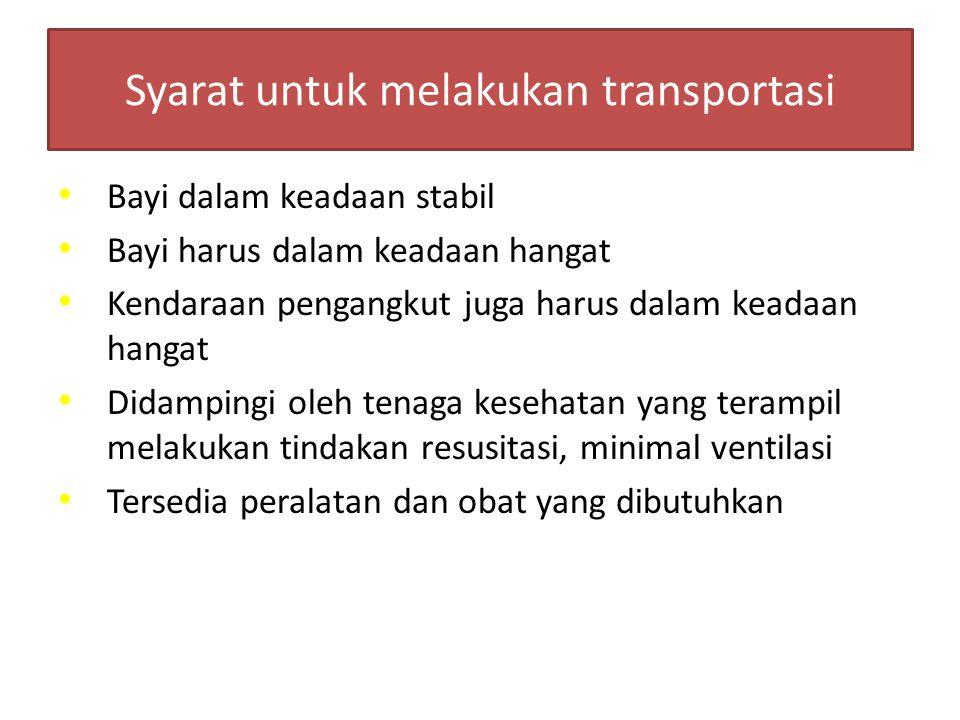 Syarat untuk melakukan transportasi