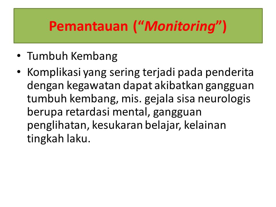 Pemantauan ( Monitoring )