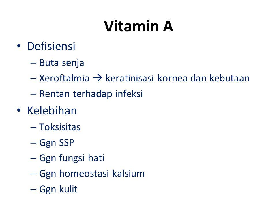 Vitamin A Defisiensi Kelebihan Buta senja