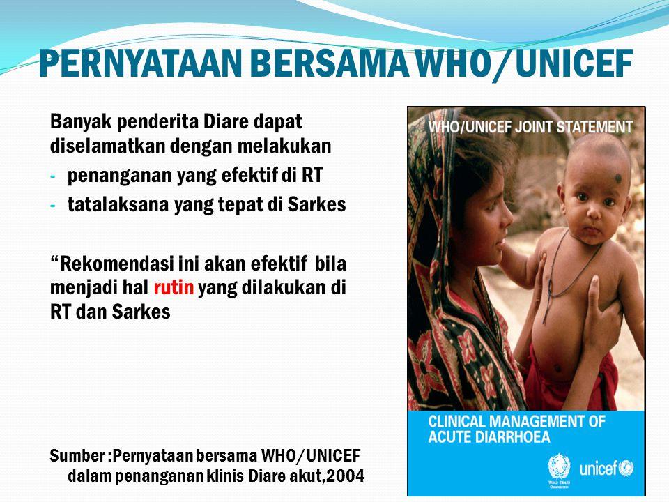 PERNYATAAN BERSAMA WHO/UNICEF