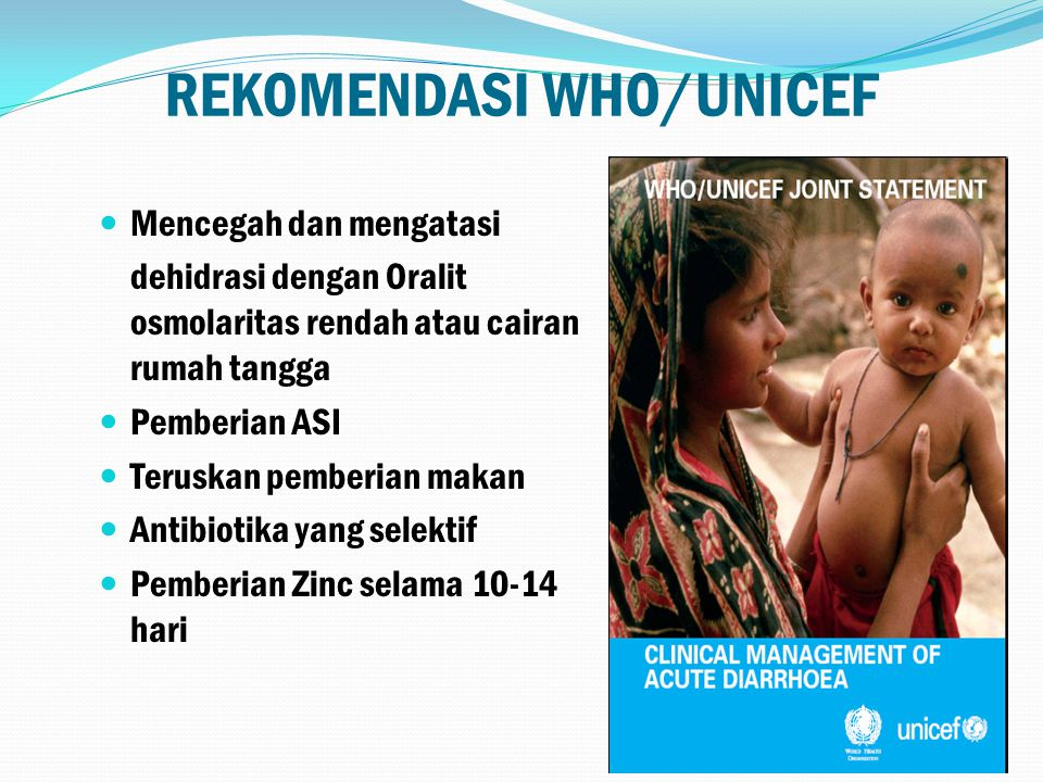 REKOMENDASI WHO/UNICEF