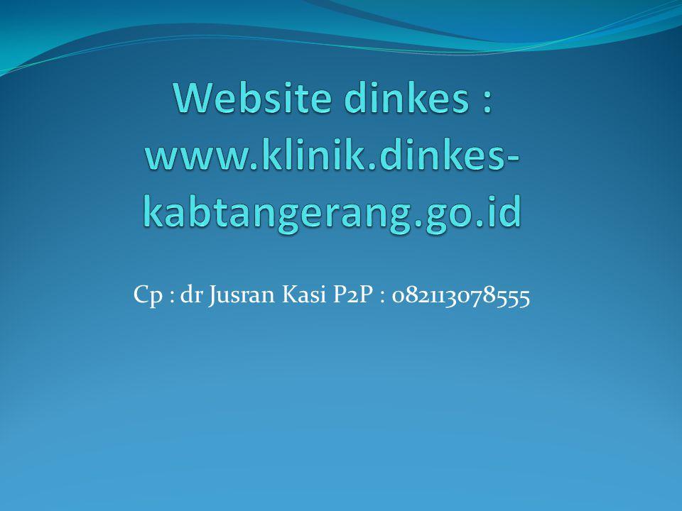 Website dinkes : www.klinik.dinkes-kabtangerang.go.id
