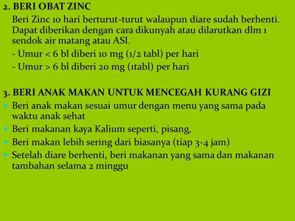 2. BERI OBAT ZINC