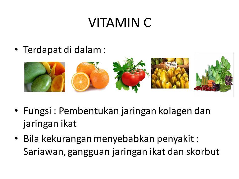 VITAMIN C Terdapat di dalam :