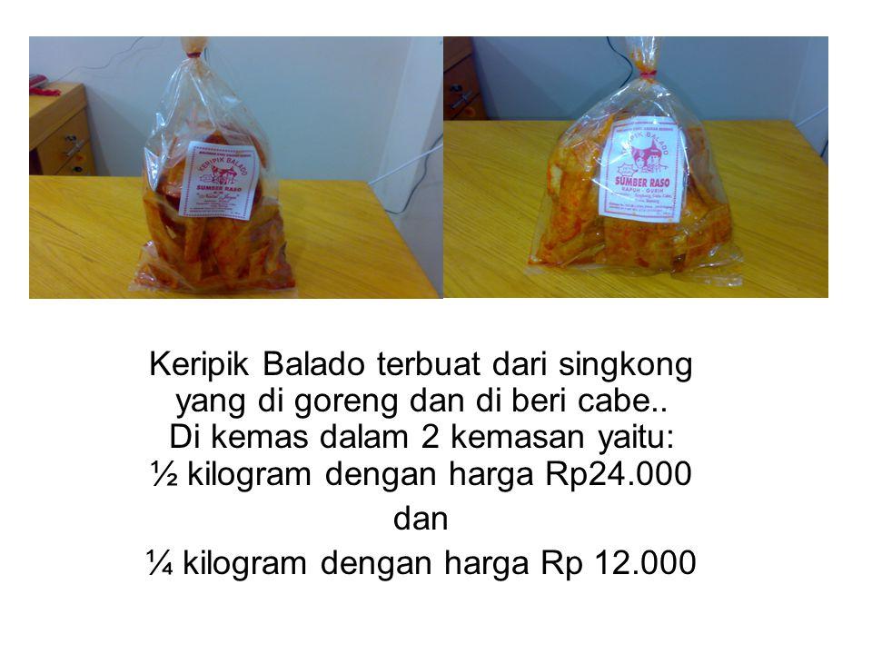 ¼ kilogram dengan harga Rp 12.000