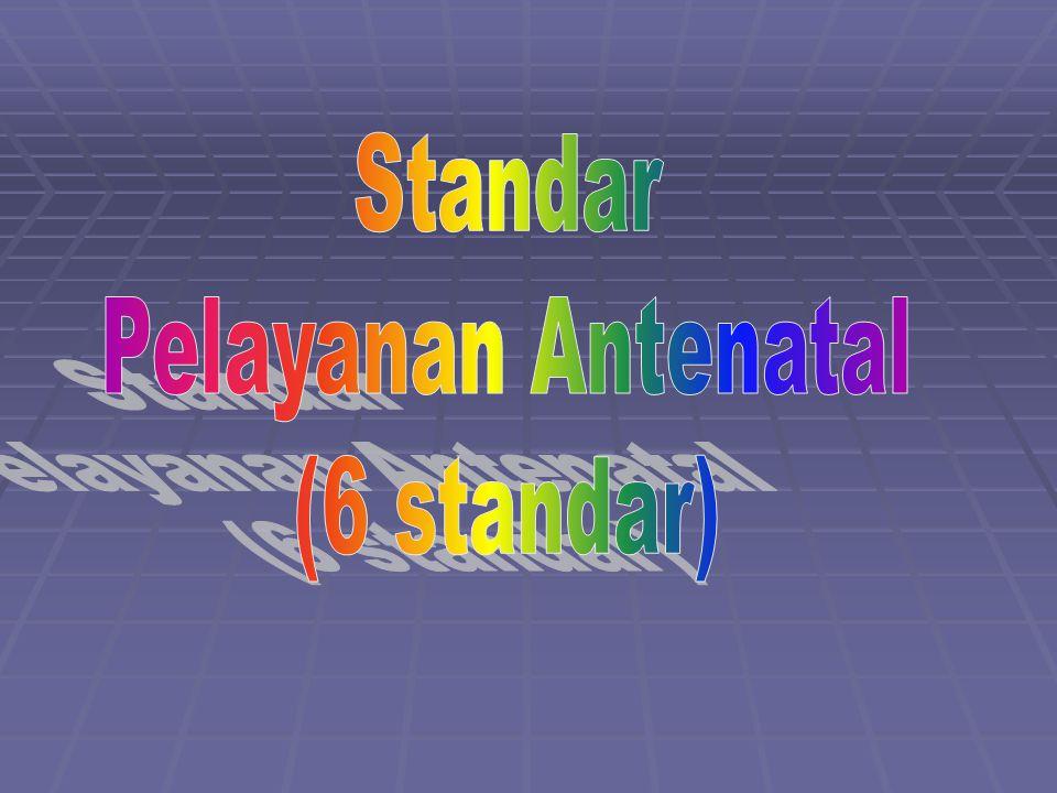 Standar Pelayanan Antenatal (6 standar)