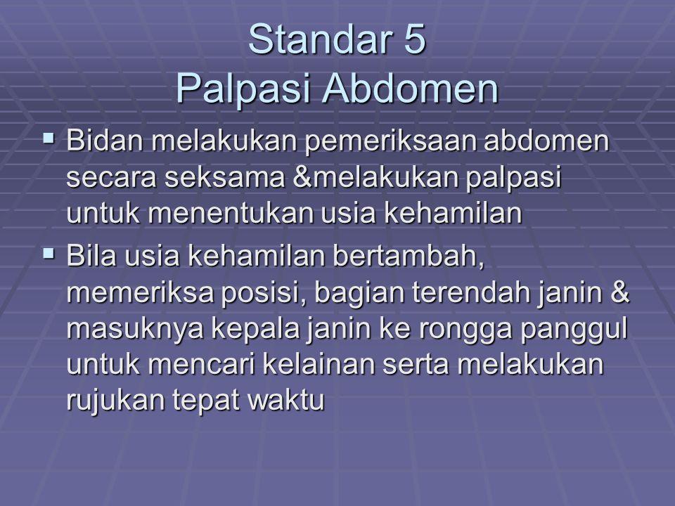 Standar 5 Palpasi Abdomen