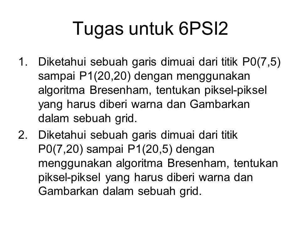 Tugas untuk 6PSI2