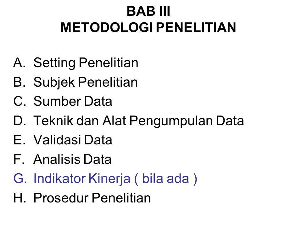 BAB III METODOLOGI PENELITIAN