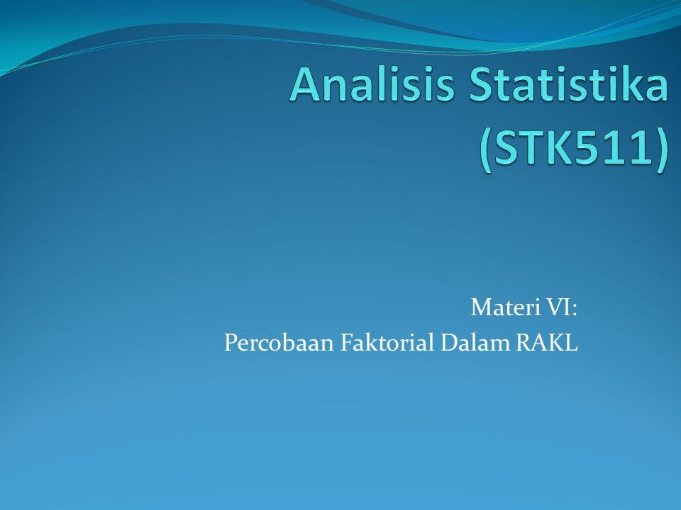 Analisis Statistika (STK511)