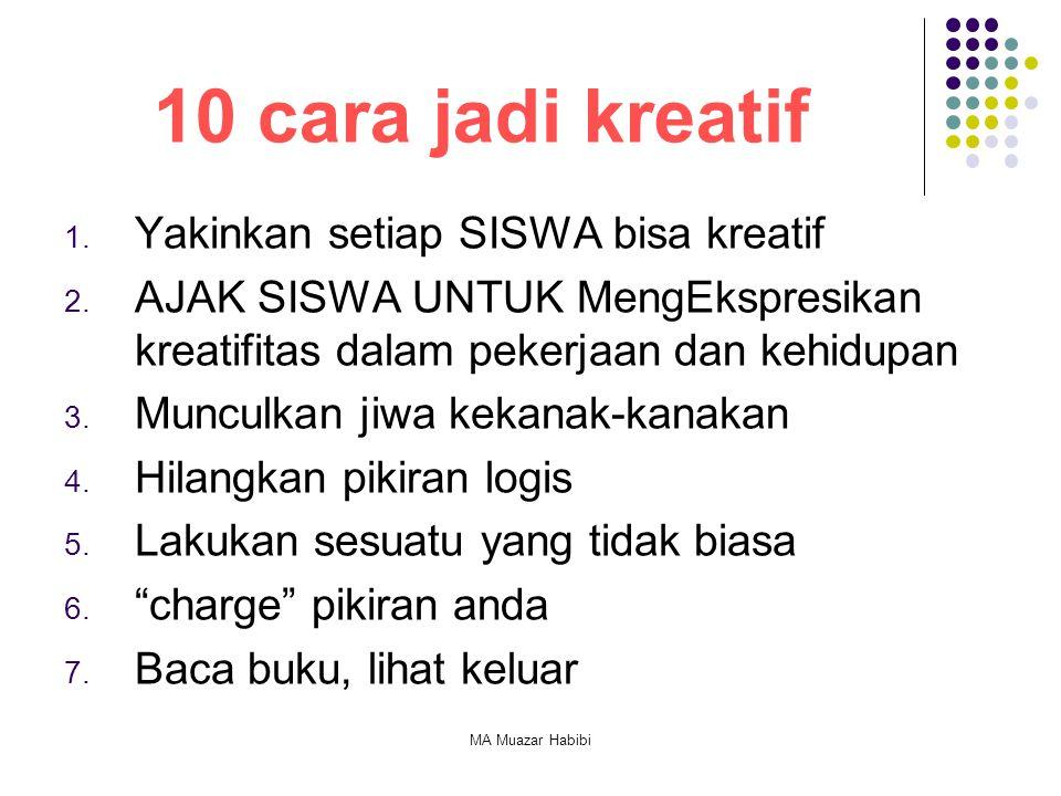 10 cara jadi kreatif Yakinkan setiap SISWA bisa kreatif