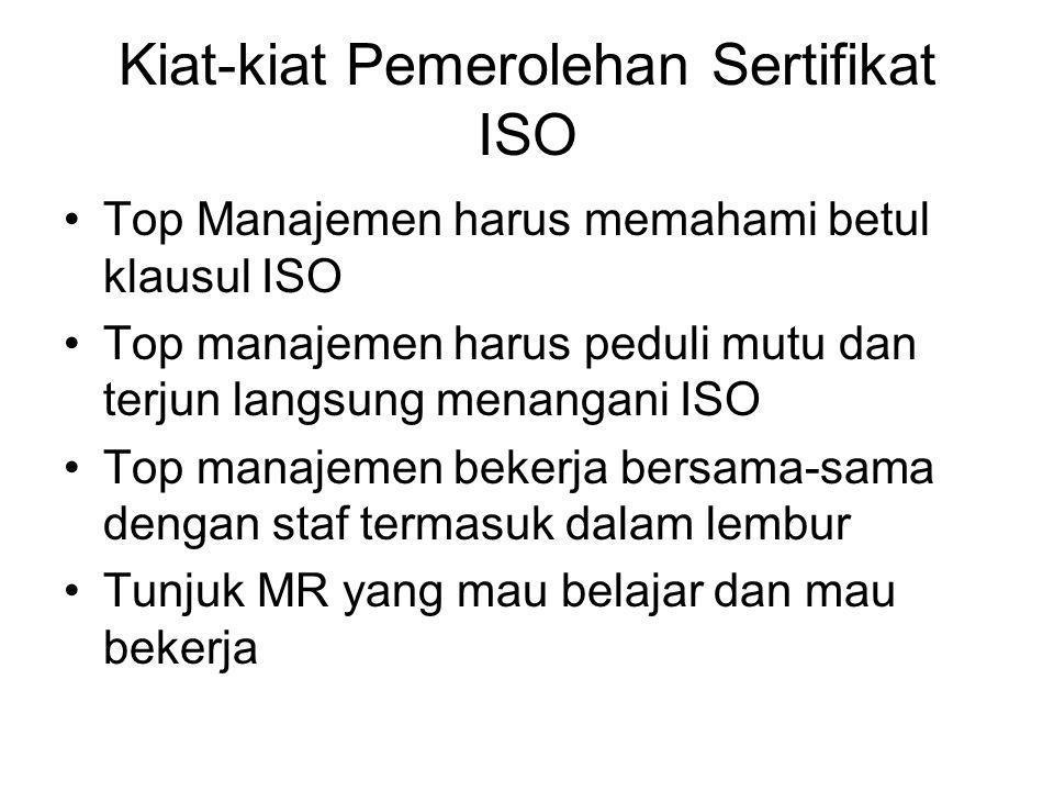 Kiat-kiat Pemerolehan Sertifikat ISO