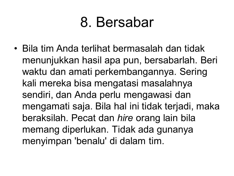 8. Bersabar