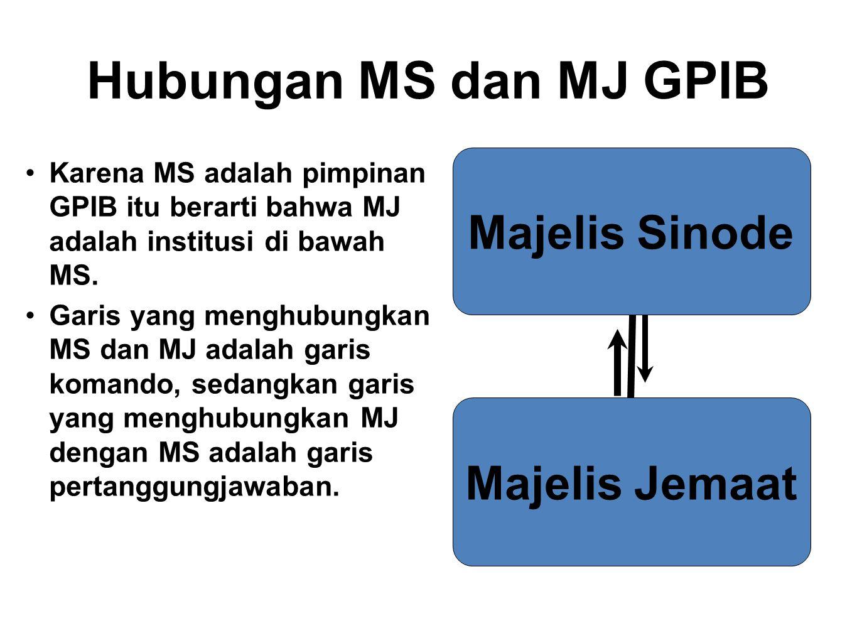 Hubungan MS dan MJ GPIB Majelis Sinode Majelis Jemaat