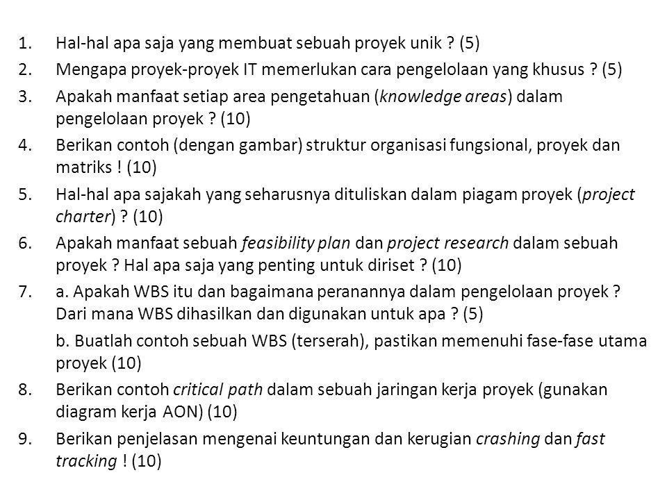 Hal-hal apa saja yang membuat sebuah proyek unik (5)