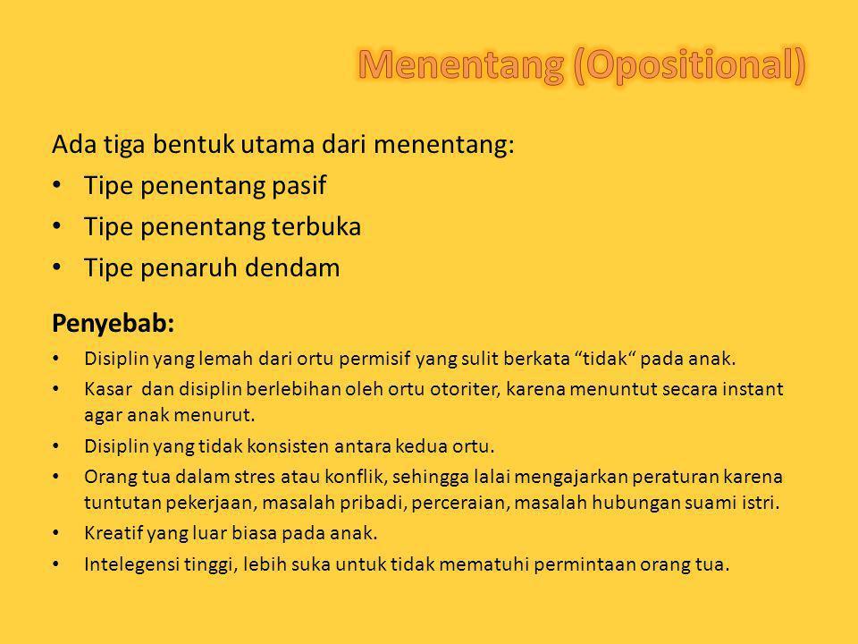 Menentang (Opositional)