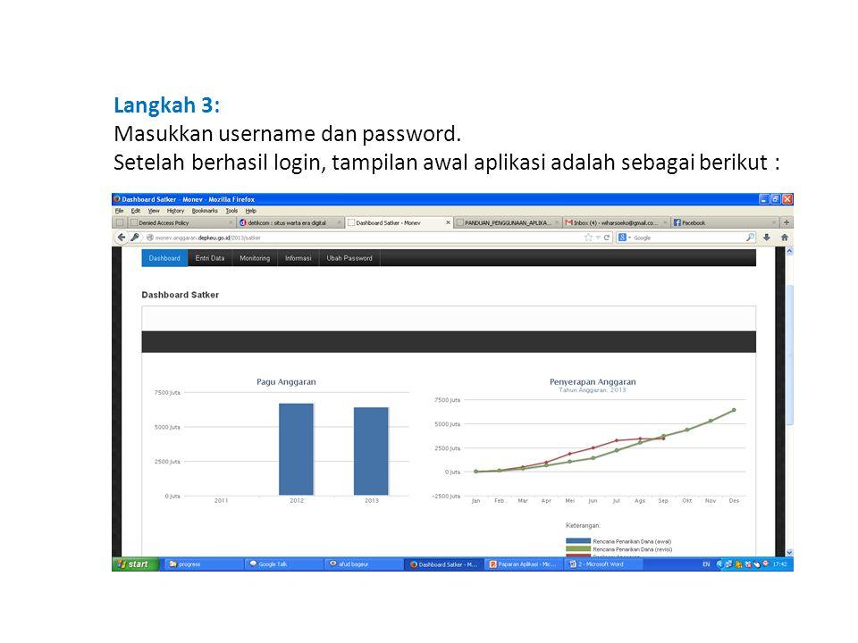 Langkah 3: Masukkan username dan password.