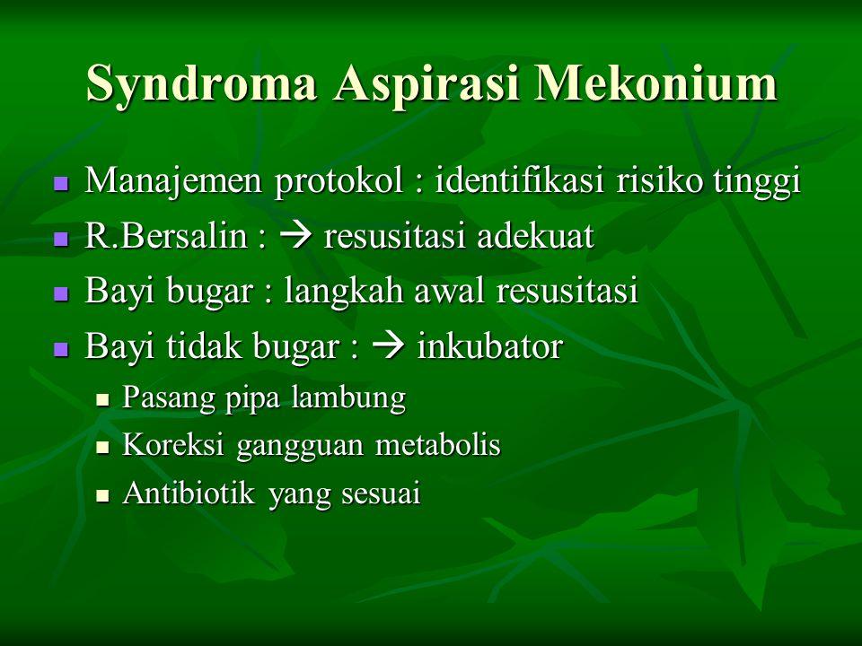 Syndroma Aspirasi Mekonium