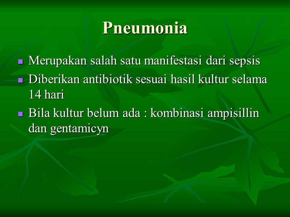 Pneumonia Merupakan salah satu manifestasi dari sepsis