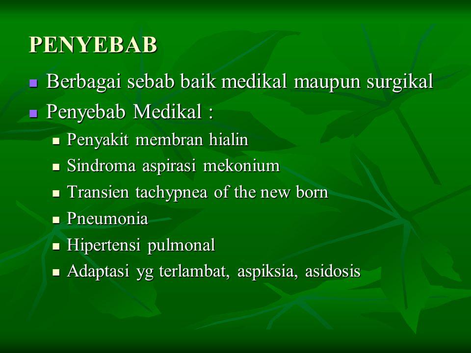 PENYEBAB Berbagai sebab baik medikal maupun surgikal