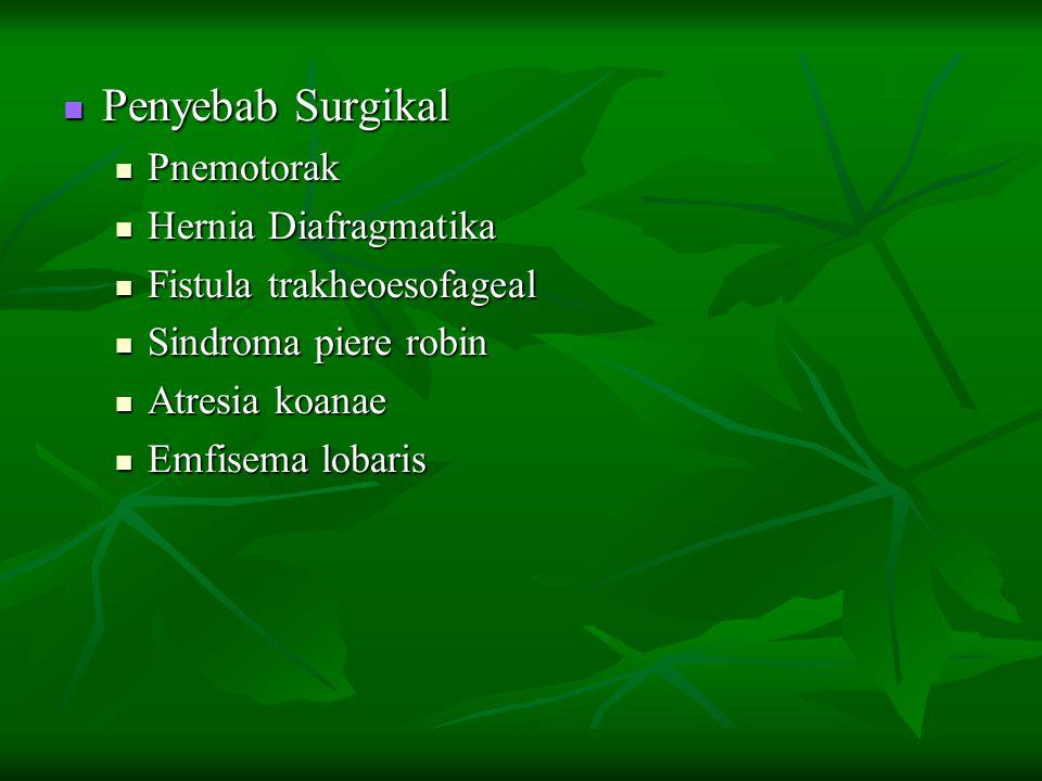 Penyebab Surgikal Pnemotorak Hernia Diafragmatika