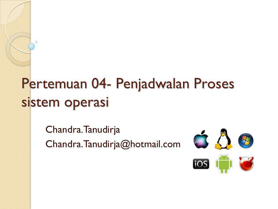 Pertemuan 04- Penjadwalan Proses sistem operasi
