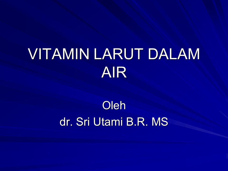 VITAMIN LARUT DALAM AIR