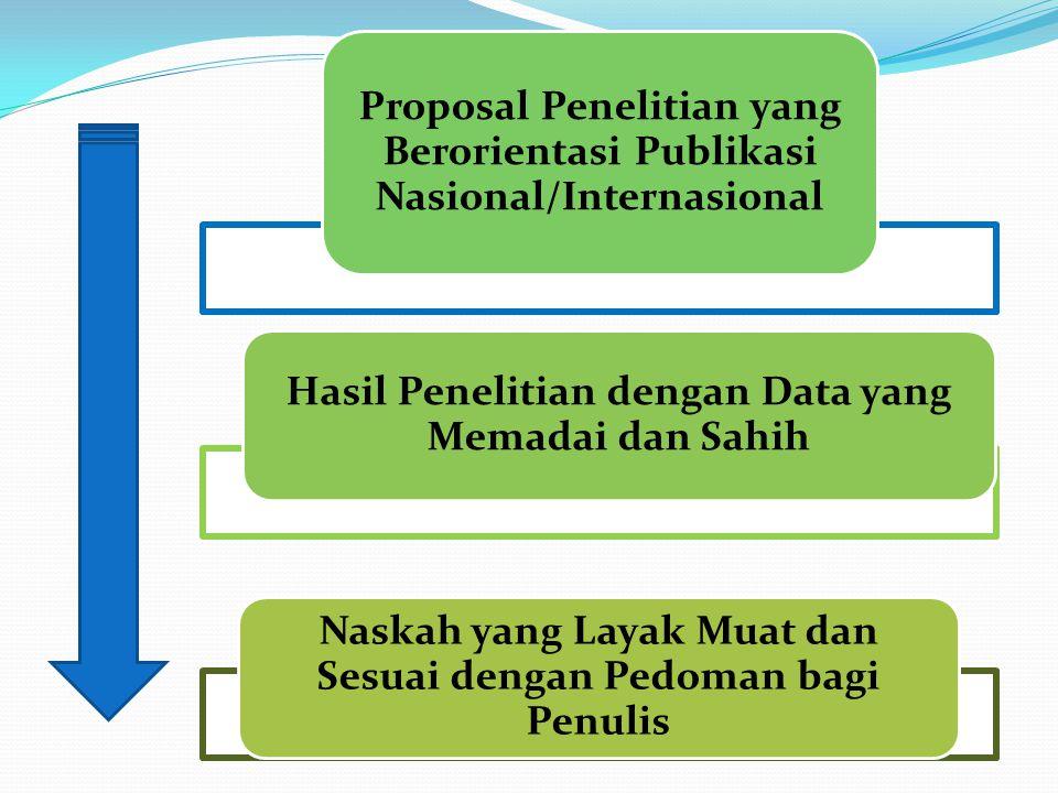 Proposal Penelitian yang Berorientasi Publikasi Nasional/Internasional