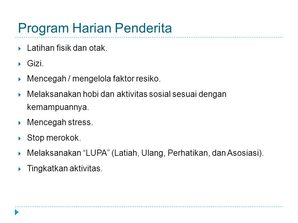 Program Harian Penderita